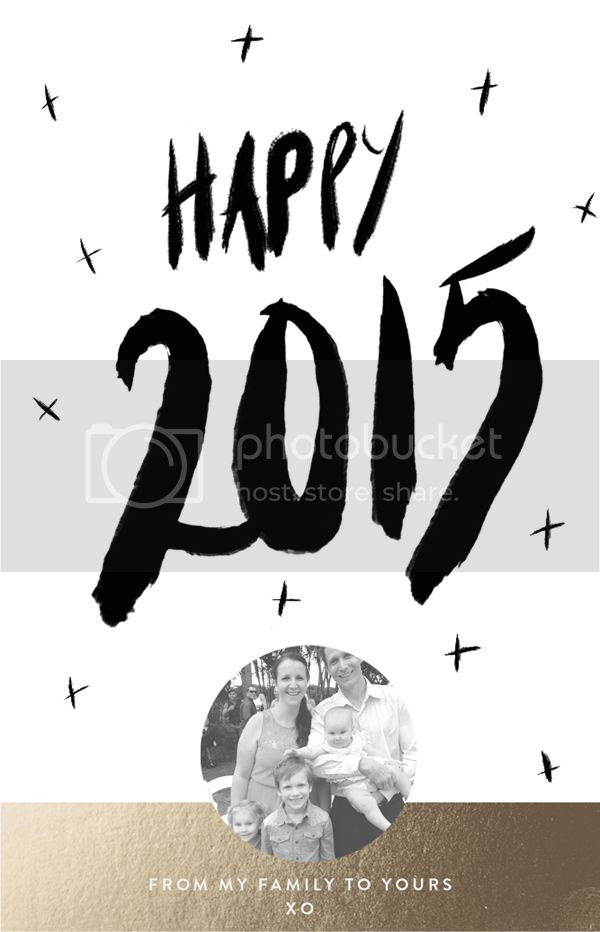 Happy New Year Hand lettered from Polkadot Prints