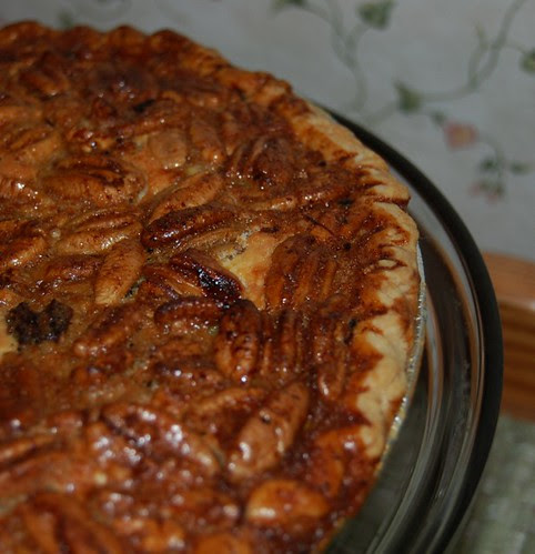 Black Botton Pecan Cheesecake Pie