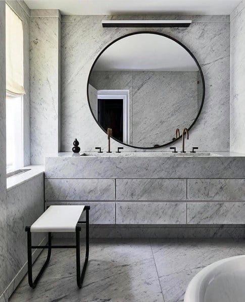 Top 70 Best Bathroom Backsplash Ideas Sink Wall Designs