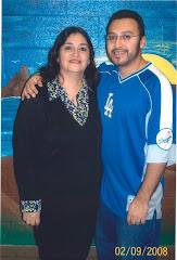 Velia and her son, Efrén Paredes, Jr.