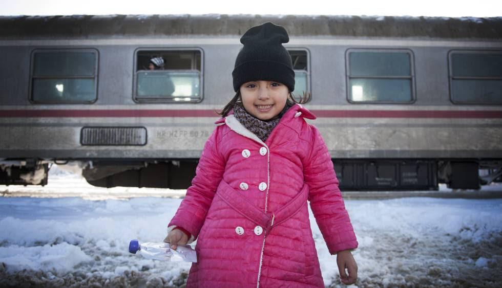 Lara es una de las niñas que han llegado a Croacia procedentes de Damasco (Siria), huyendo de la guerra.