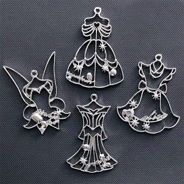 Kawaii Princess Dress Open Bezel Belle Charm Alice In Wonderland