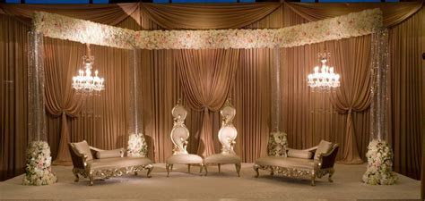 Muslim and Pakistani wedding stage decoration Valimah