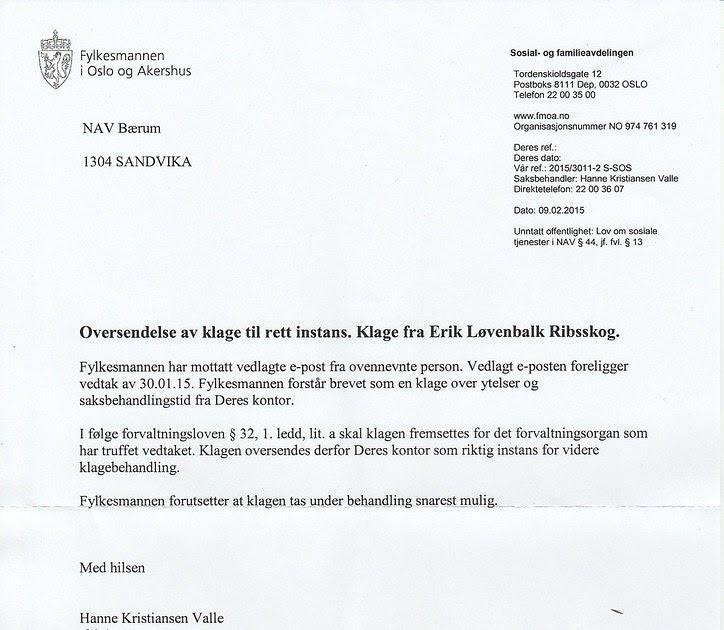 67ce3d41 johncons: Jeg fikk et brev fra Fylkesmannen i Oslo og Akershus
