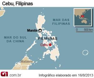 mapa naufrágio filipinas (Foto: 1)