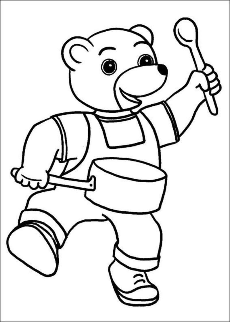 Coloriage Petit Ours Brun Page 3