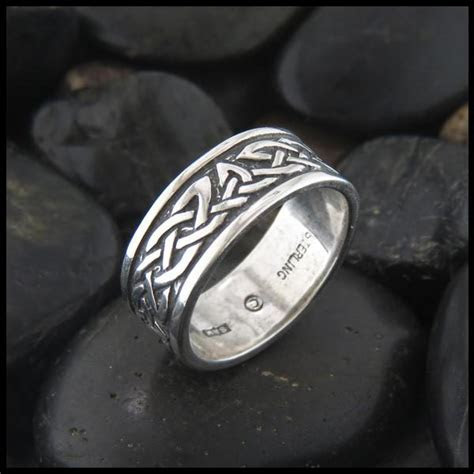 celtic trinity knot ring lorn band  sterling silver