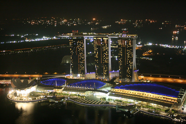 The Marina Bay Sands looks practically tiny from up here
