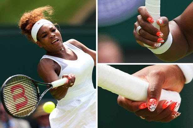 Nailed! Serena glams up