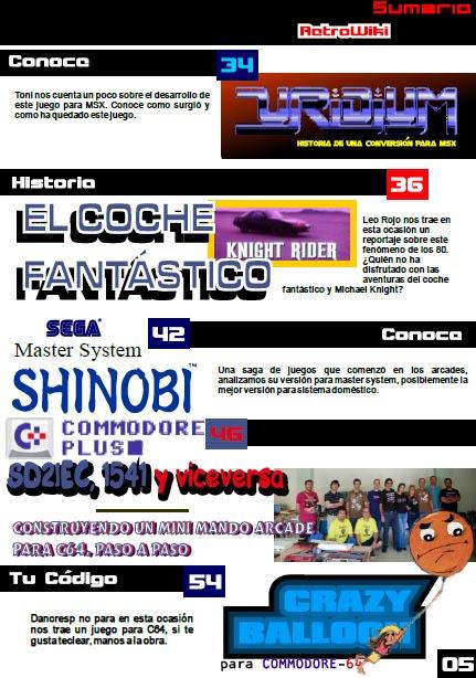 Sumario Retrowiki magazine 10 - 2