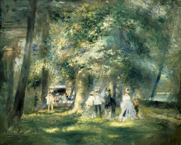 Pierre-Auguste Renoir - En el parque de Saint Cloud