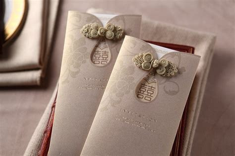 Chinese Button Oriental Wedding Card Malaysia