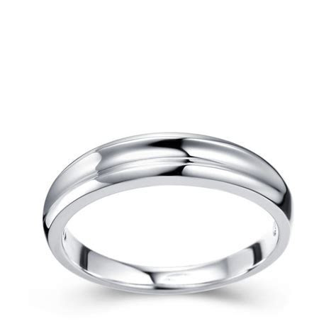 Mens Wedding Ring Band on White Gold   JeenJewels