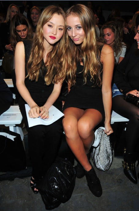 Devon Aoki and Harley Viera Newton