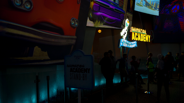 Disneyland Resort, Disney California Adventure, Frozen Fun, Frozen, Hollywood Land, Animation, Building, Academy, Do, You, Want, To, Draw, Snowman, Olaf