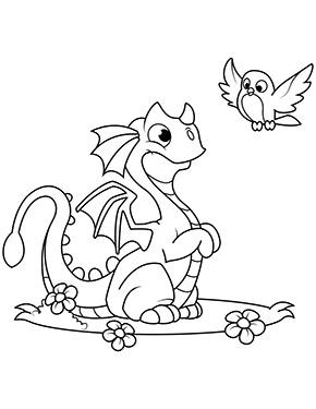 Ausmalbilder Tiere Drachen