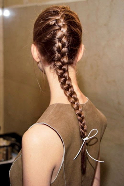 10 Le Fashion Blog 21 Braid Ideas For Long Hair Classic French Braided Ponytail Backstage Via Glamour