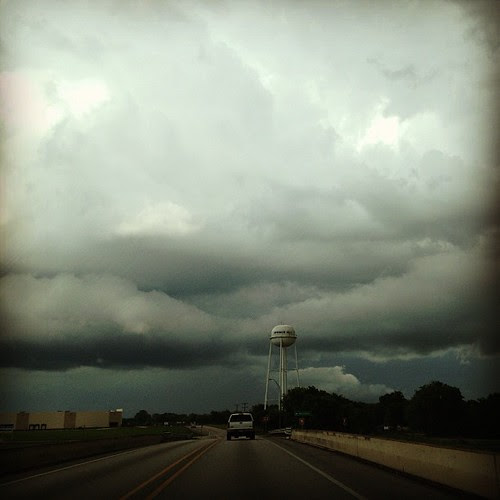Clouds over the road