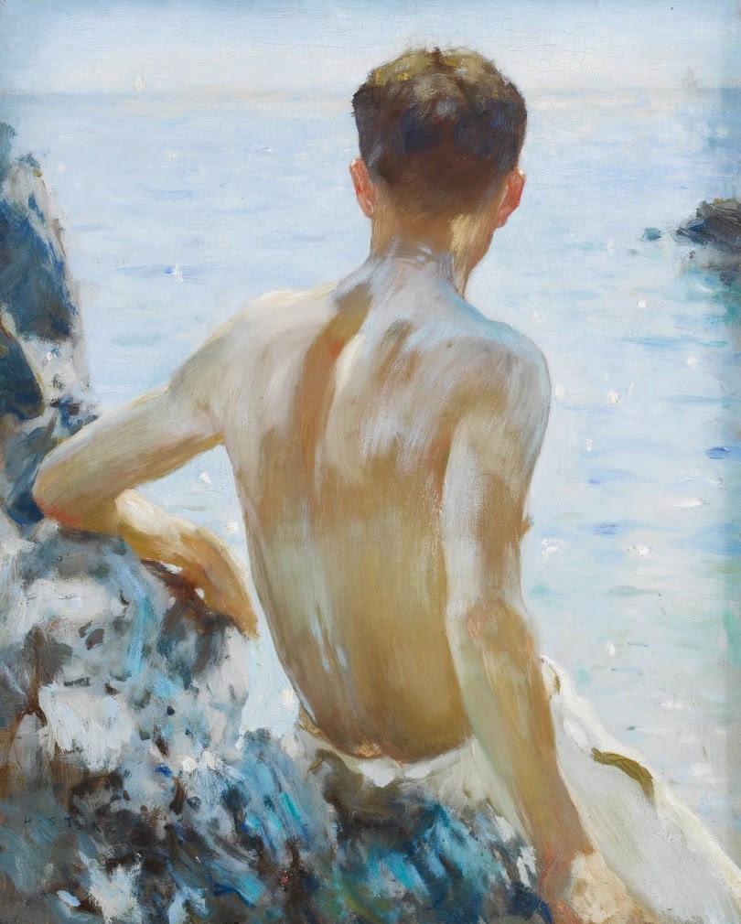 Henry Scott Tuke - Beach Study