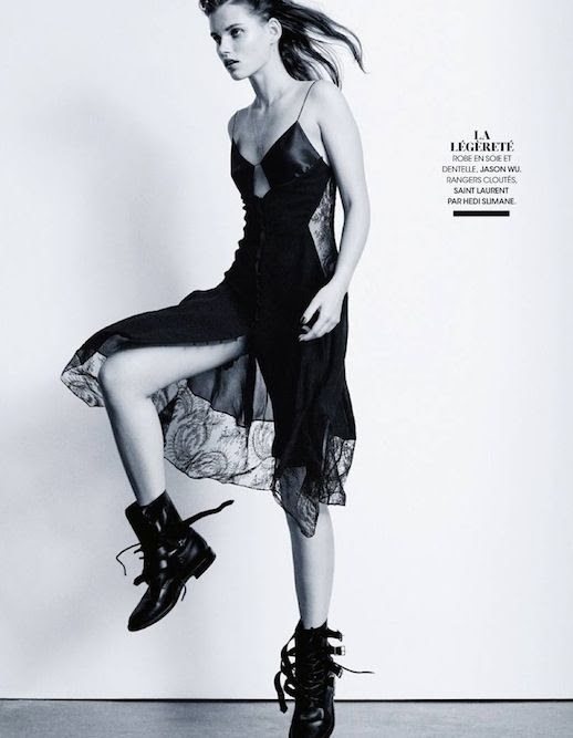 Le Fashion Blog Editorial Lace And Embroidered Goodness Madame Figaro France Belle D'Ajours March 2014 Black Saint Lurent Lace Cami Sip Dress Combat Buckle Lace Boots 1 photo Le-Fashion-Blog-Editorial-Lace-And-Embroidered-Goodness-Madame-Figaro-France-Belle-DAjours-March-2014-1.jpg