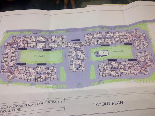 Layout Plan of 2 BHK for 25 Lakhs at Urbangram Kirkatwadi Sinhagad Road Pune 411 024