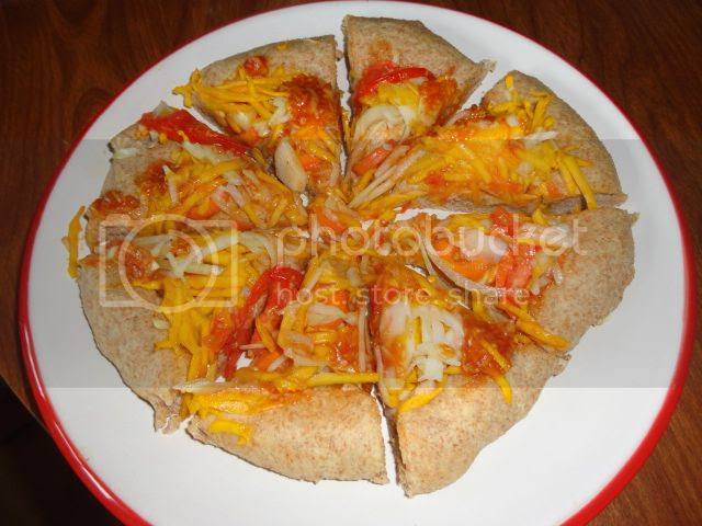 Yellow, Red and White Vegetable Pizza