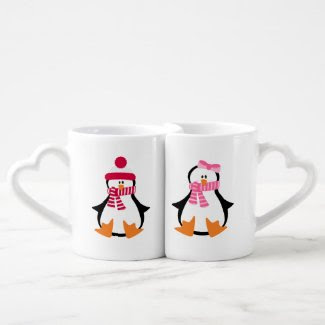 Penguin Couple Couple Mugs