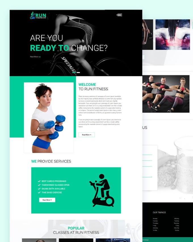Run Free Gym Fitness Website Template