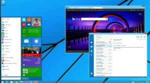 new Windows start menu