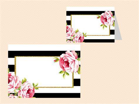 Black Stripes Floral Bridal Shower Sign Printable