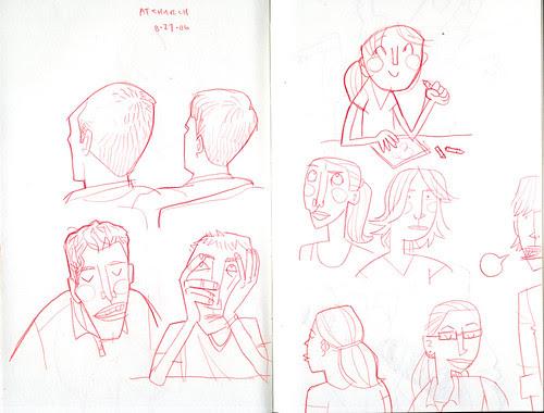 sketchdump: at church