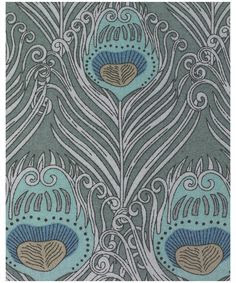 Liberty of London fabric // I remember falling in love with the color blue the first time I saw a peacock feather.. & Now, on fabric in peacock design.. Oh my..