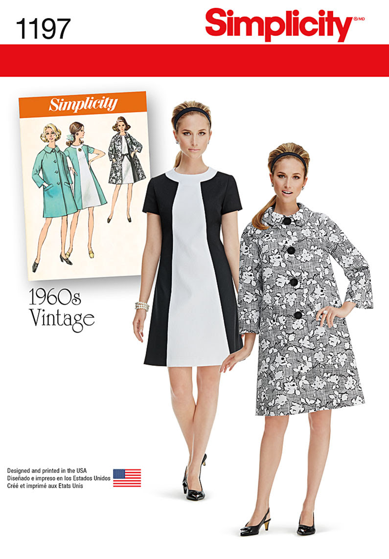 Simplicity Misses' Vintage Dress and Lined Coat 1197