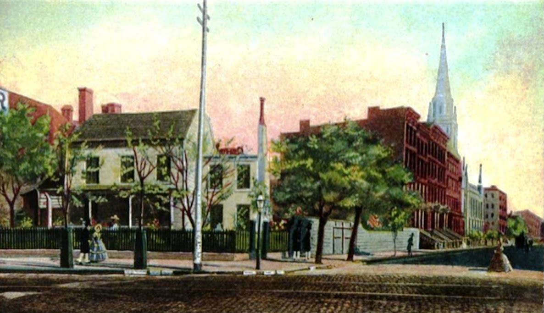 Casper Samler Homestead now site of Gilsey House
