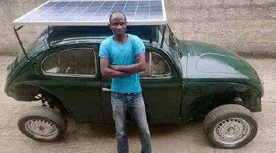 Interesting:- An OAU Undergraduate Builds A Solar-Powered Car [See Photo]