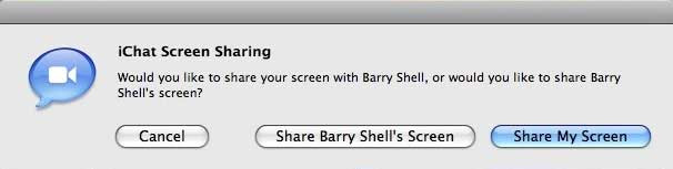 iChat Screen Sharing