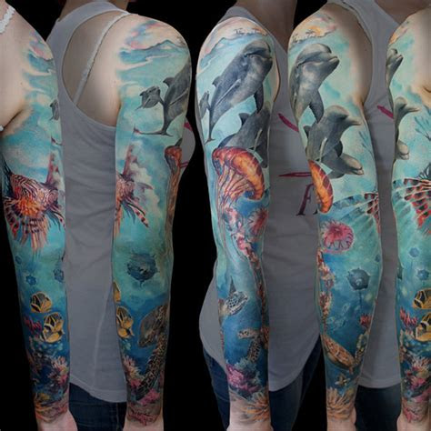 marine life inspired tattoos  honor  national ocean