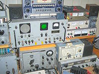 Large quantity of electronic gear and scientific equipment.