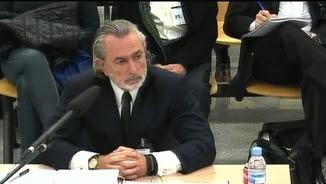 Francisco Correa durant la seva compareixença a l'Audiència Nacional
