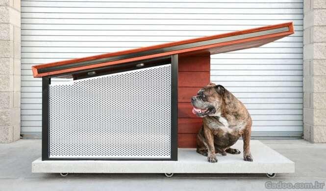 Esta moderna casa de cachorro foi projetada para compor o ambiente interno do seu lar
