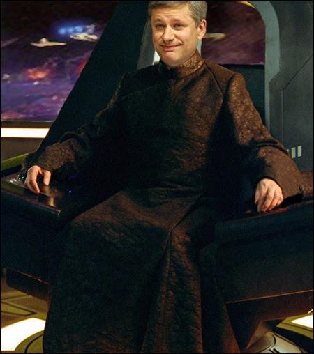 Emperor Harper ponders his ebbing mind trick power.