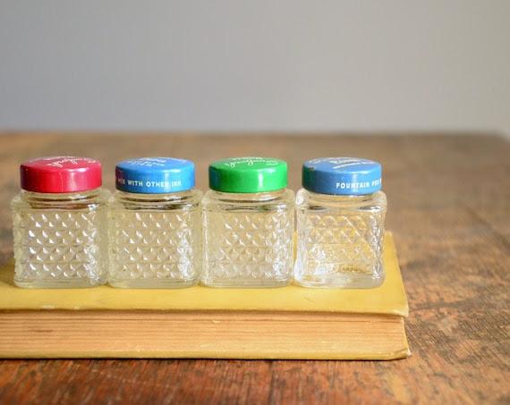 Instant Collection of Vintage Sanford's Pen-It Ink Bottles