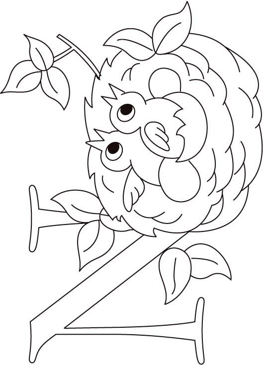 N for nest coloring page for kids | Download Free N for ...