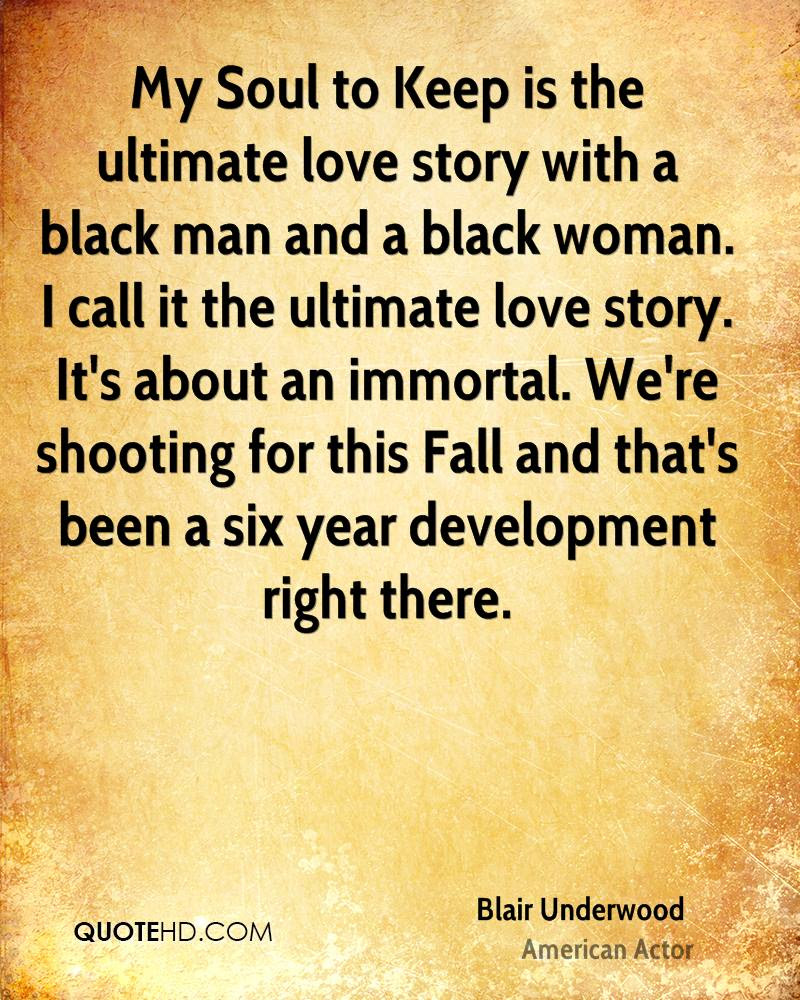 My Soul to Keep is the ultimate love story with a black man and a black