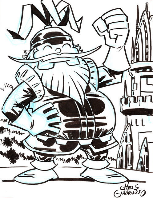 Volstagg by Chris Giarrusso