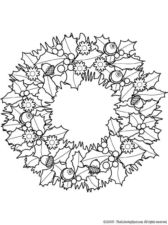 christmas wreath | Printables | Pinterest