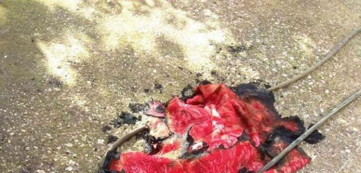 Ανατριχιαστικές λεπτομέρειες για την τραγωδία του Αιτωλικού: Ο 92χρονος προσπάθησε να σβήσει την φωτιά με κουβέρτα πριν καεί ζωντανός! (ΔΕΙΤΕ ΦΩΤΟ)