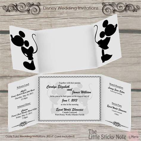 Disney Wedding Invitation by TheLittleStickyNote on Etsy