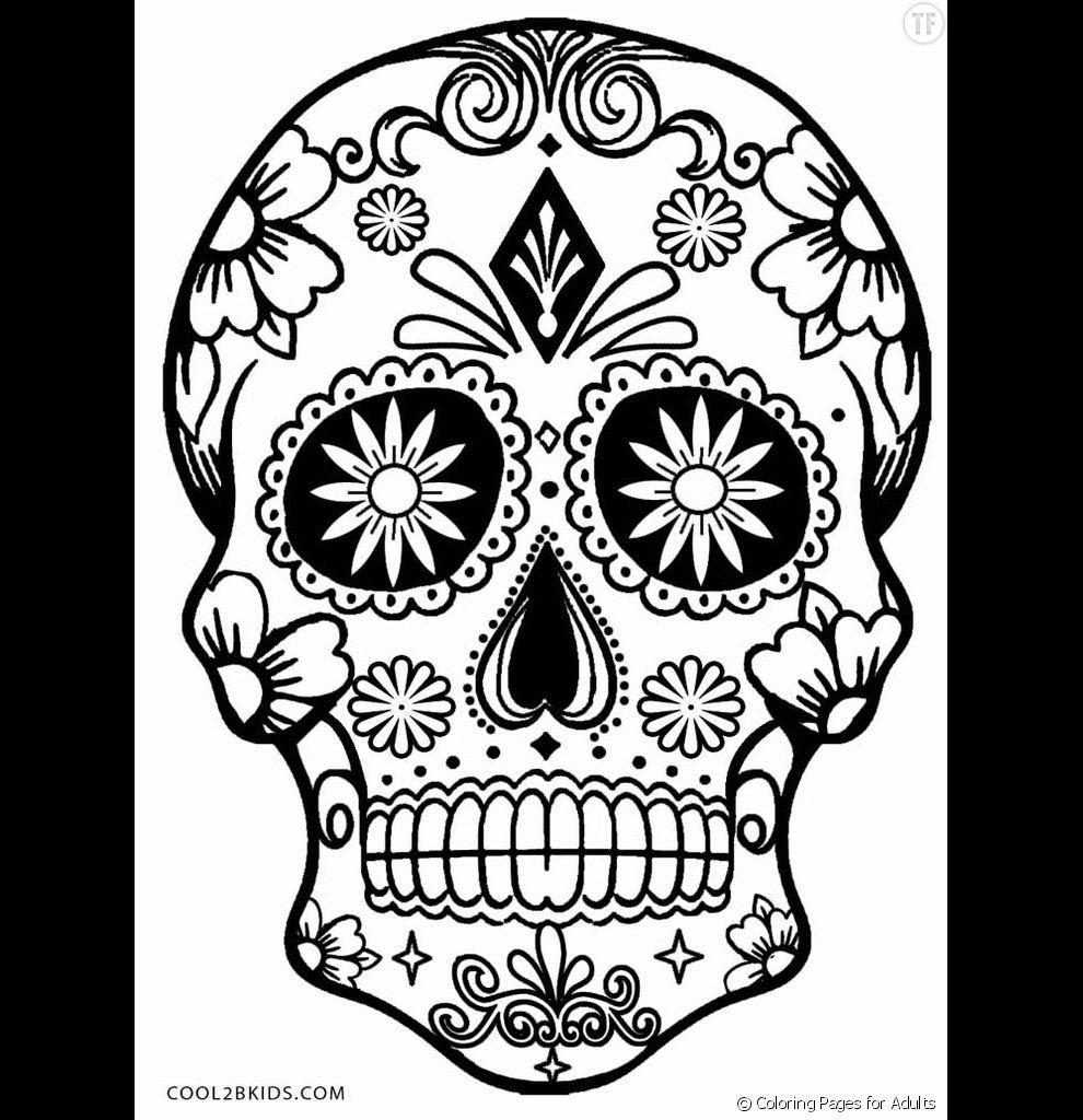Élégant Coloriage De Tete De Mort A Imprimer | Haut Coloriage HD-Images et Imprimable Gratuit