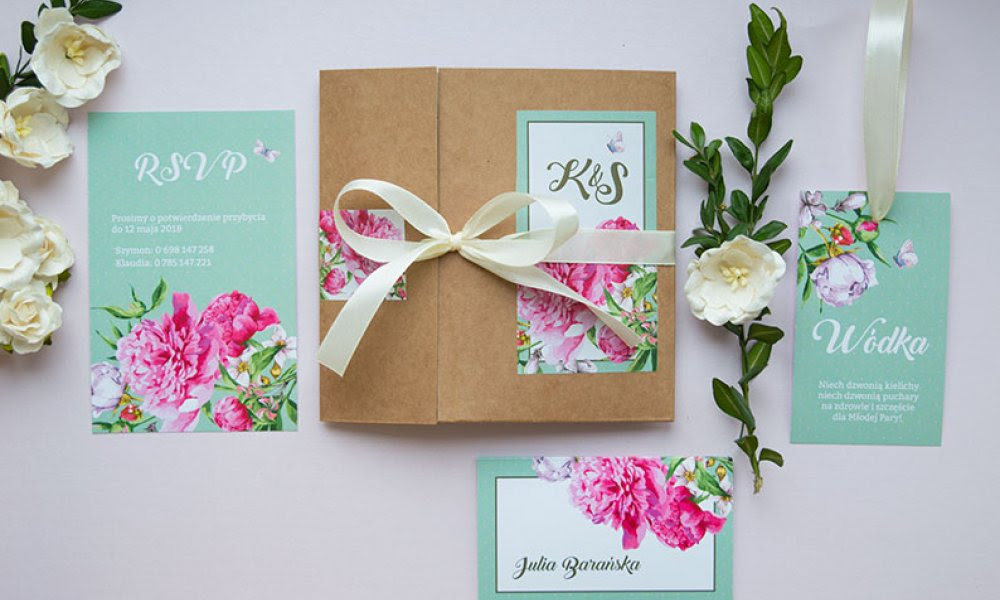 Rustykalne Zaproszenia W Kwiaty Blog U Nas Znajdziesz Piękne